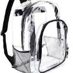 clear bookbag