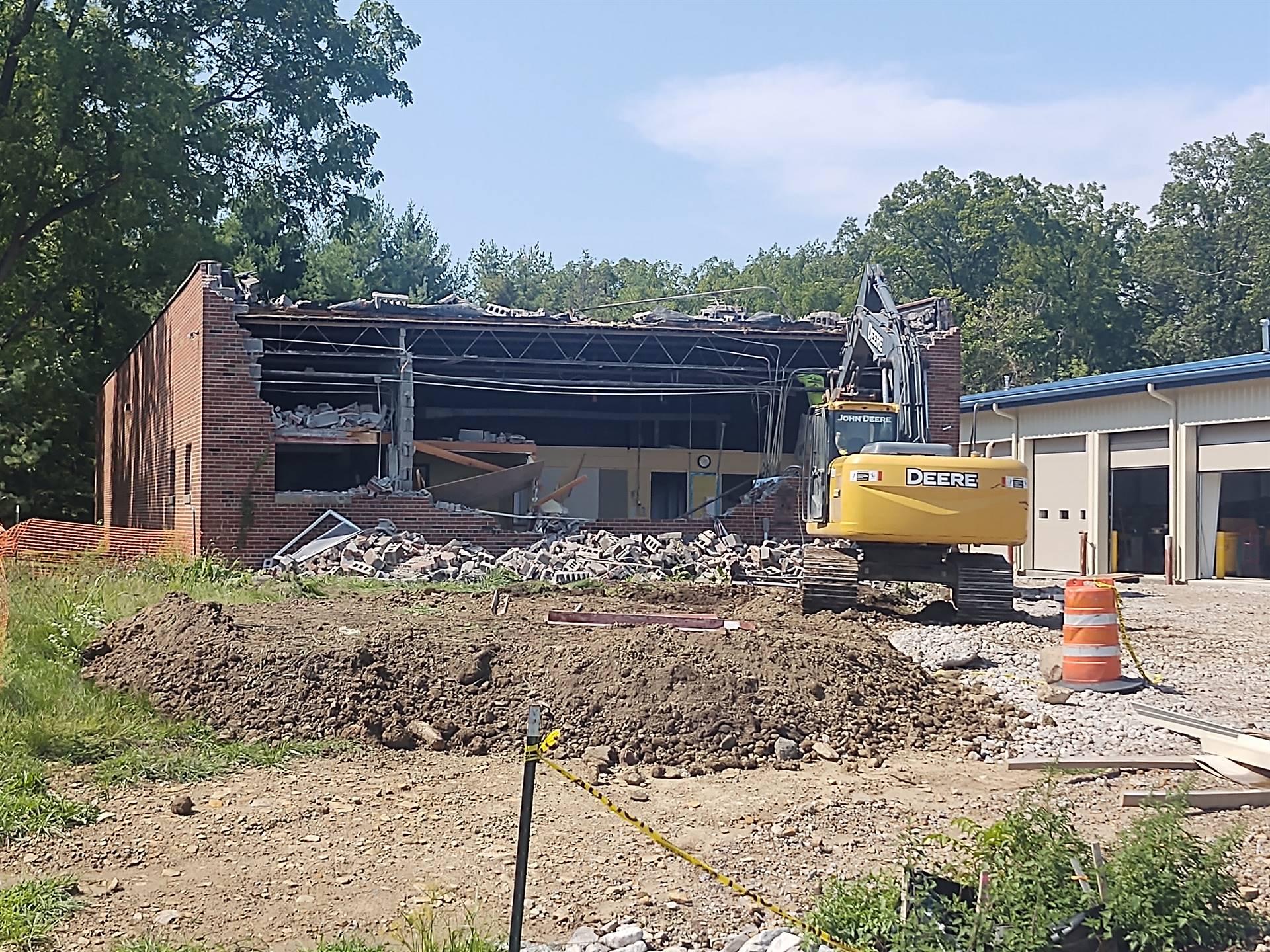 Old Bus garage demolition!!
